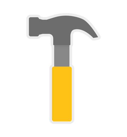 reconstruction: Tool concept represented by hammer icon. isolated and flat illustration