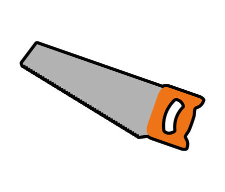 warning saw: Tool concept represented by Saw icon. isolated and flat illustration