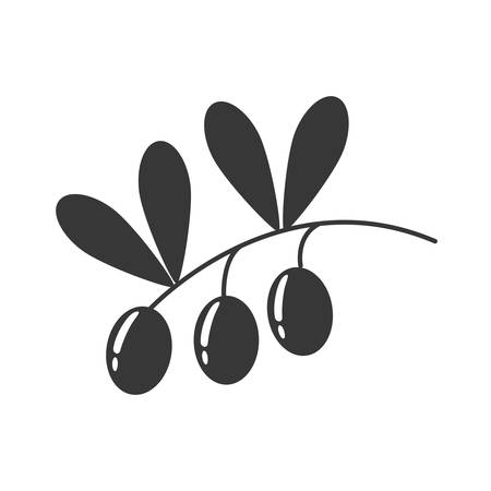 alimentation: Organic and Healthy food concept represented by olive plant icon. isolated and flat illustration Illustration