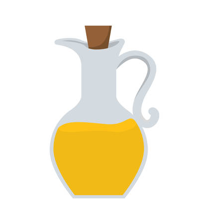 alimentation: Organic and Healthy food concept represented by olive oil bottle icon. isolated and flat illustration
