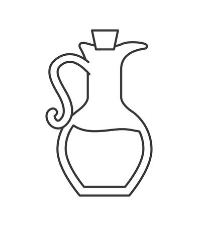 Organic and Healthy food concept represented by olive oil bottle icon. isolated and flat illustration