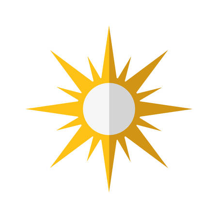 oncept: Weather oncept represented by sun icon. isolated and flat illustration Illustration