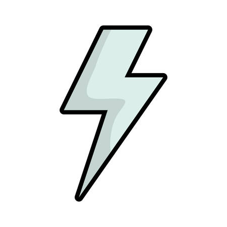 oncept: Weather oncept represented by thunder icon. isolated and flat illustration Illustration
