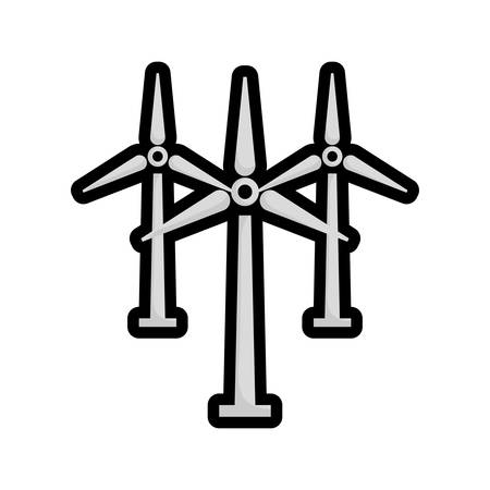 wind mill: Save Energy concept represented by wind mill icon. isolated and flat illustration