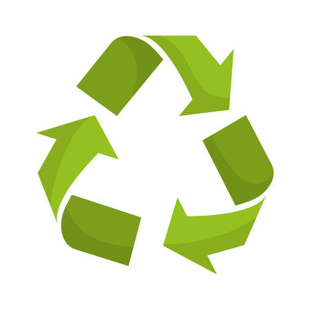 represented: Ecology concept represented by recycle  icon. isolated and flat illustration Illustration
