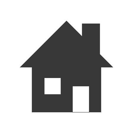 luxury home exterior: Family home concept represented by house with window icon. isolated and flat illustration