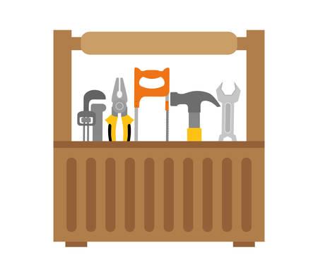 warning saw: Tools digital design, vector illustration eps 10. Illustration