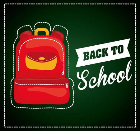 haversack: Back to school design, vector illustration eps 10.