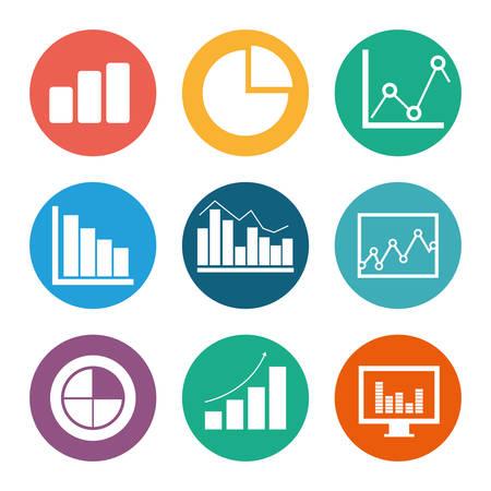 Business statistics design, vector illustration Illustration