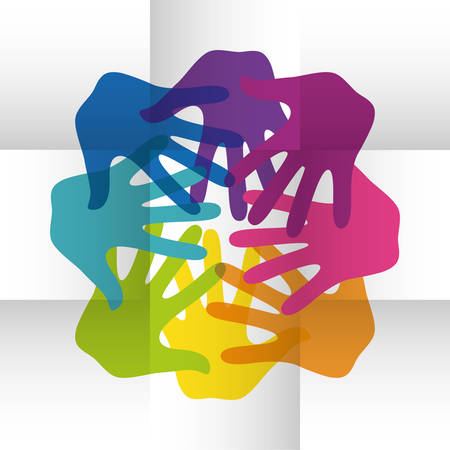 vivid colors: Concept of Diversity people, vivid colors design, vector illustration Illustration