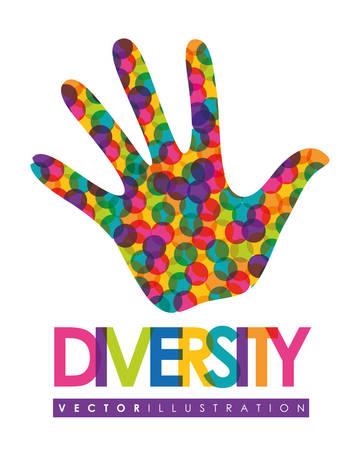 default: Concept of Diversity people, vivid colors design