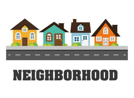 residential neighborhood: Home digital design, vector illustration eps 10. Illustration