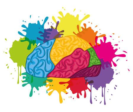 Diseño de cerebro humano Ilustración de vector