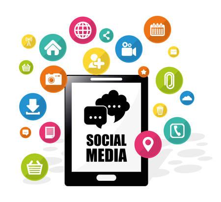 electronic organizer: Social media design, vector illustration