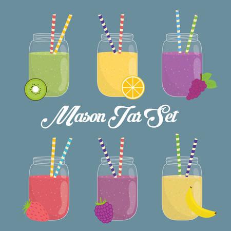 Mason Jar projektowanie Ilustracje wektorowe