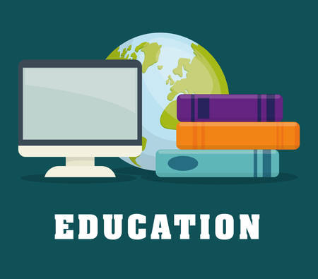 world class: Education and elearning graphic design, vector illustration. Illustration