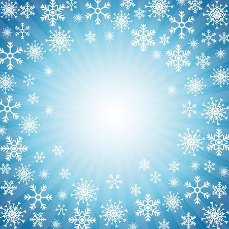 december background: Winter snow or snowflake design, vector illustration