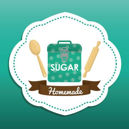 homemade: Homemade dessert recipe graphic design