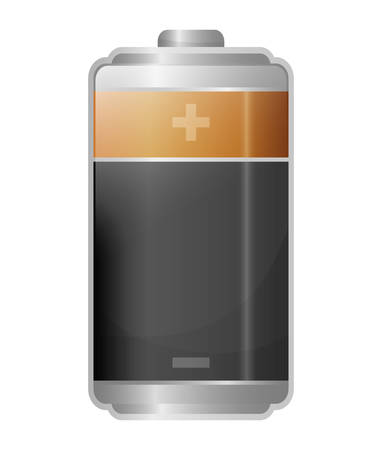 voltmeter: Battery icons graphic design Illustration