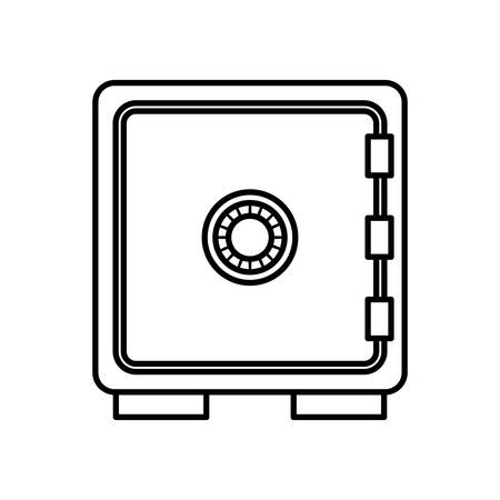 strongbox: Security system concept represented by strongbox icon. isolated and flat illustration