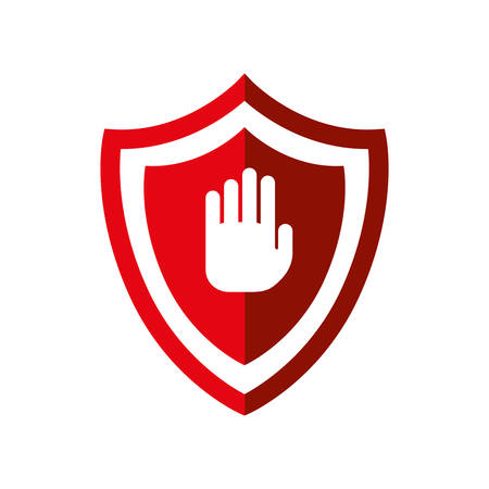 fatal: Security system concept represented by shield icon. isolated and flat illustration