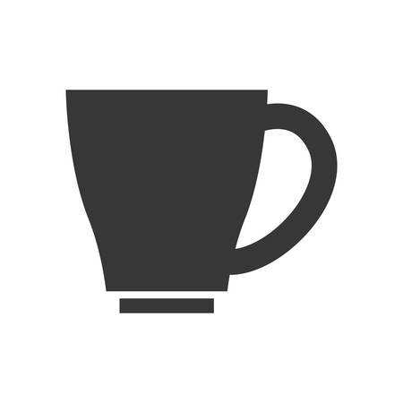 coffee time: Coffee time concept represented by coffee mug icon. isolated and flat illustration