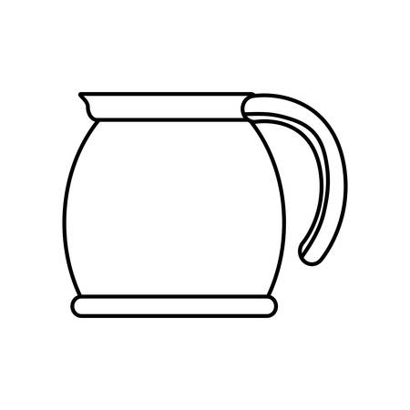 coffee time: Coffee time concept represented by coffee kettle icon. isolated and flat illustration