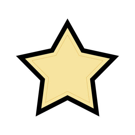 basic shape: Basic shape concept represented by star of five points  icon. isolated and flat illustration