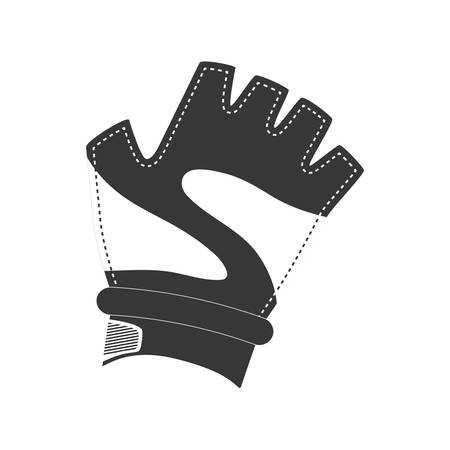 doctor gloves: Healthy lifestyle and fitness concept represented by sport glove icon. isolated and flat illustration