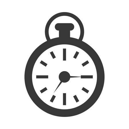 chronometer: time  concept represented by chronometer icon. isolated and flat illustration Illustration
