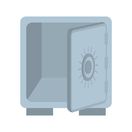 strongbox: Money concept represented by strongbox icon. isolated and flat illustration