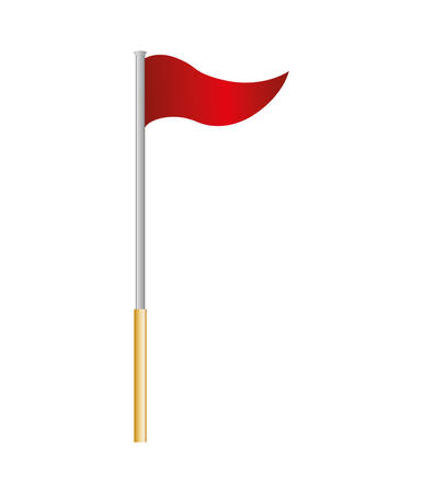 pennant: flag concept represented by red pennant icon. isolated and flat illustration Illustration