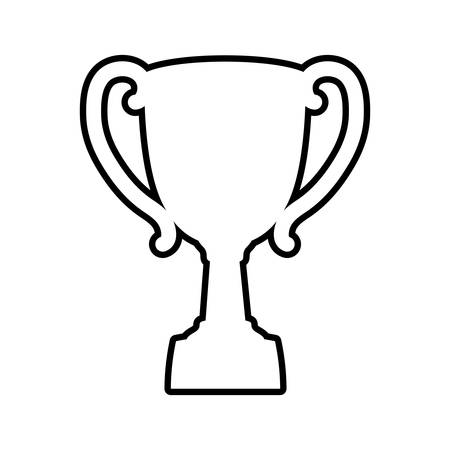 first job: Winner concept represented by trophy cup icon. isolated and flat illustration Illustration