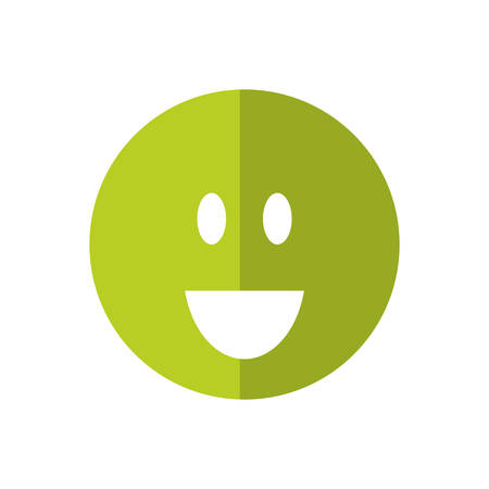 positive feeling: Thinking concept represented by Positive feeling icon. isolated and flat illustration