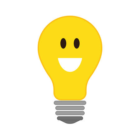 feeling positive: Thinking concept represented by Positive feeling on light bulb icon. isolated and flat illustration