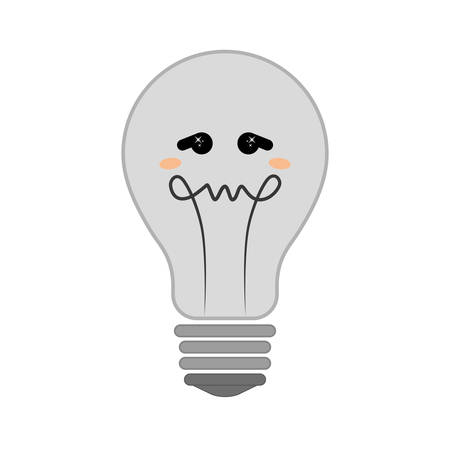 emotional pain: Thinking concept represented by Negative feeling on light bulb icon. isolated and flat illustration