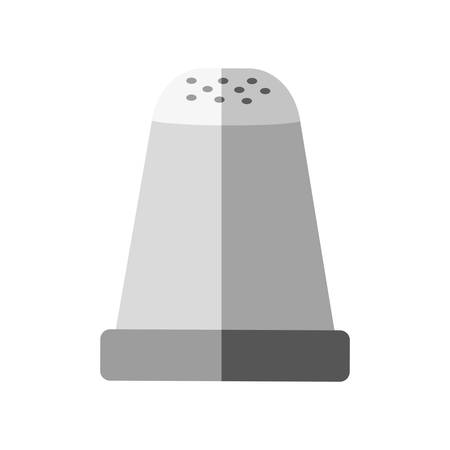 ingredient: Ingredient concept represented by jar of salt icon. isolated and flat illustration