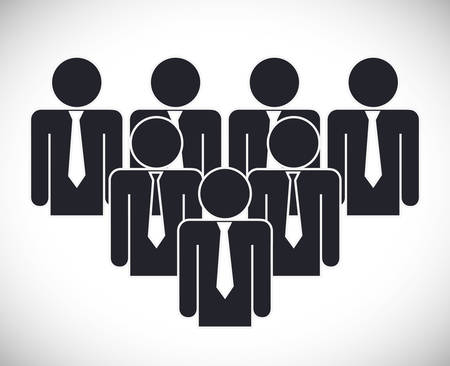 businesspeople: Business represented by businesspeople icon. flat and isolated illustration Illustration