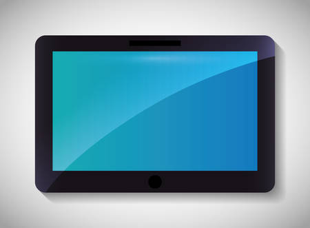 represented: Technology concept represented by tablet icon. Colorfull and flat illustration Illustration