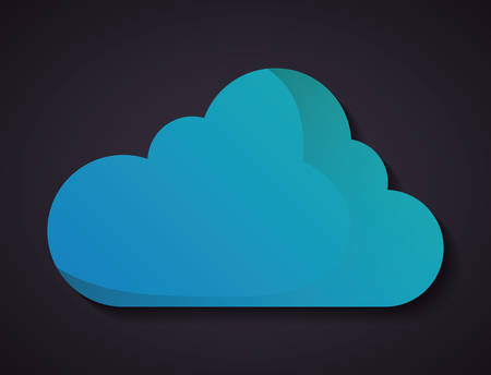 day forecast: Weather concept represented by blue cloud icon. Colorfull and flat illustration