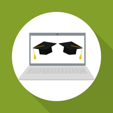 commencement: learning concept with icon design, vector illustration graphic.