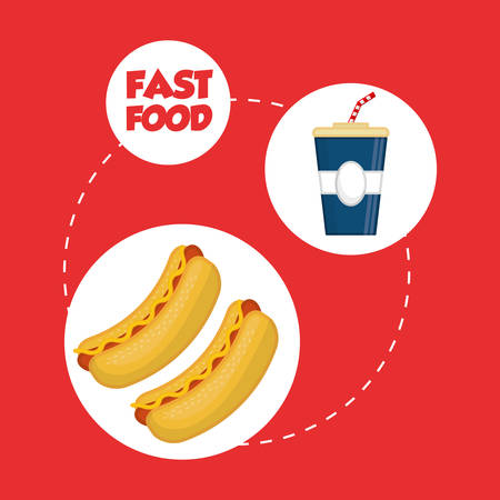 tonic: fast food concept with icon design, vector illustration 10 eps graphic.