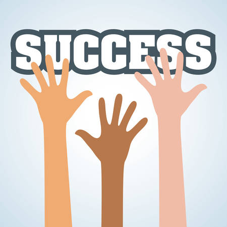 competitors: Success concept with icon design, vector illustration 10 eps graphic.