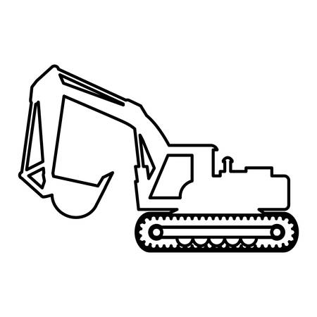 hydraulic: Under construction concept represented by hydraulic excavator icon. isolated and flat illustration