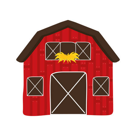 cultivating: Farm concept represented by building icon. isolated and flat illustration Illustration