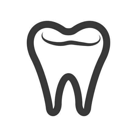 appointments: Medical and health care concept represented by teeth icon. isolated and flat illustration Illustration