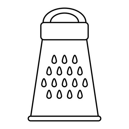 cheese grater: Kitchen and Cooking concept represented by cheese grater icon. isolated and flat illustration Illustration