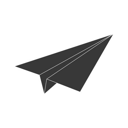 paper plane: Origami concept represented by paper plane icon. isolated and flat illustration Illustration