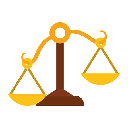 trial balance: Law and Justice concept represented by Balance icon. isolated and flat illustration