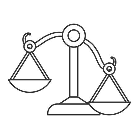 judicial: Law and Justice concept represented by Balance icon. isolated and flat illustration